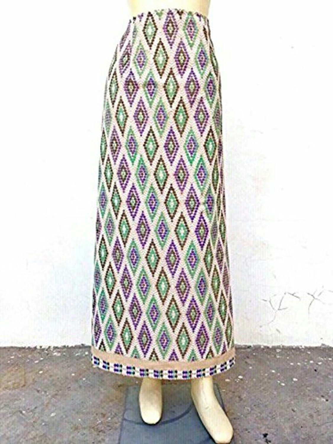 a4fabd0c2504a Handmade Thai Women Floral Fabric Rope Tie Sarong Wrap Skirt Long Sin  Cotton100%