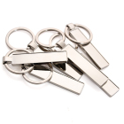 Custom High Quality Car Number Two-side Blanked Metal Keychain