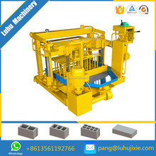 movable concrete block machine price QMY4-30A hollow bricks machine indian price small industry machinery