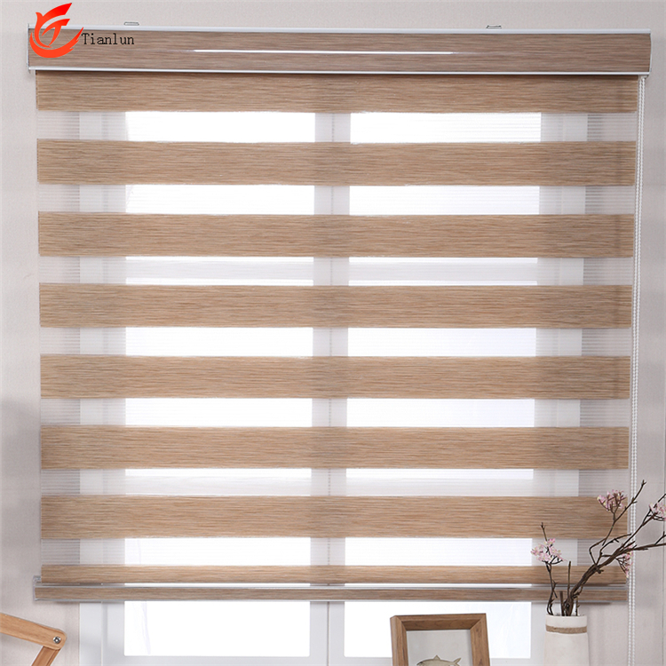 Preço mais baixo Interior Casa Windows sheer blinds Zebra blinds Shades