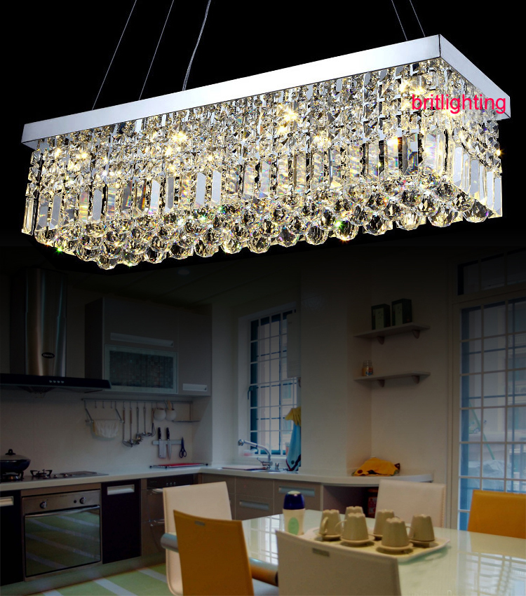 Dining Room Modern Crystal Chandeliers: K9-LED-Crystal-Chandelier-rectangle-led-lamps-modern