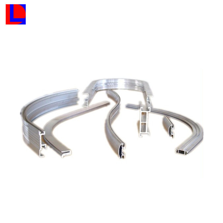 6000 Series Light Anodized Curved Aluminium Extrusion Profile with Machining