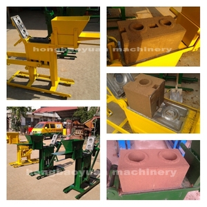 QMR2-40 Manual Compressed Earth Block Machine Small Manual Cement Interlock Brick Machine / Manual Fly