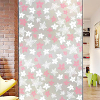 Snowflakes printing static cling window glass film sticker for christmas decorative