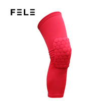 FL00-278 2018 trending hot selling basketball anti-slip honeycomb knee pads 7mm leg knee compression pads sleeve