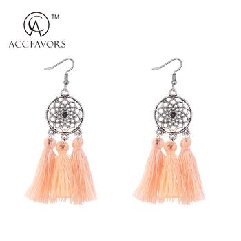Latest Fashionable Design Woolen Tel Earrings For Women