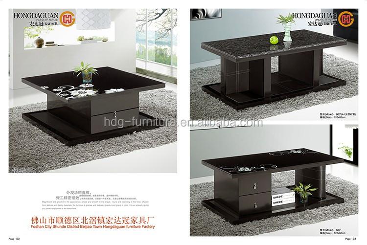 Atractivo Otomana De Cuero Muebles De Mesa De Café Embellecimiento ...