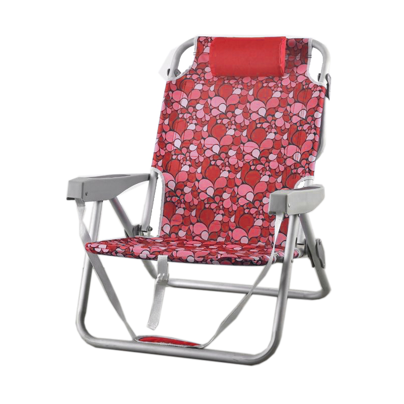 Patio plegable reclinable mochila Silla de playa con sombrilla