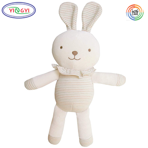 A548 Organic Bunny Rabbit Stuffed Plush Toy Animal Natural 0+ Age Safety Stuffed Bunny for Baby