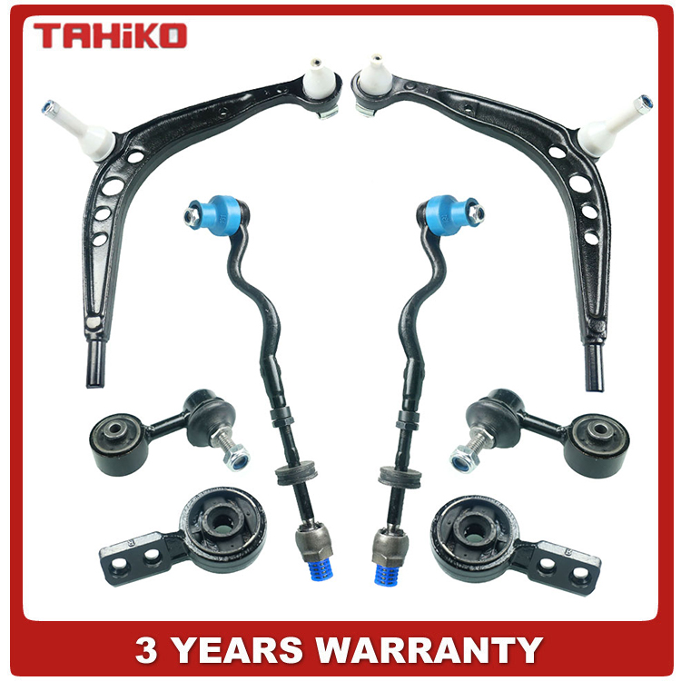 Front Suspension Control Arm Ball Joint Tie Rod Wishbone Kit 8
