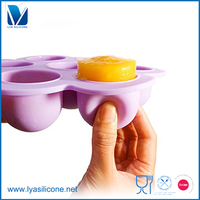 OEM Silicone Collapible Food Storage Ice Cube Tray With Lid