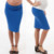 Custom Design Wholesale Clothing 95% polyester 5% spandex Foldover Waistband Straight Stripe Pencil Maternity Skirts