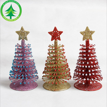 Xibao brand MINI sisal table decoration gifts artificial crystal Christmas Tree