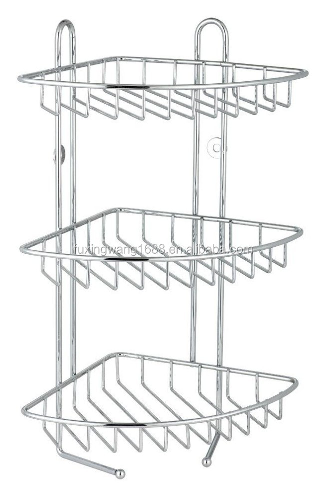 3 Tier Stainless Steel Corner Shower Rack Caddy/shelf/bathroom ...
