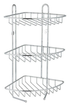 3 Tier Stainless Steel Corner Shower Rack Caddy Shelf Bathroom Organizer