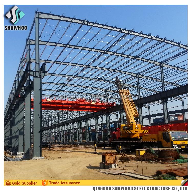 Bajo Costo Nave Industrial Diseño Estructura De Acero Galvanizado ...