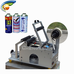 Manual professional table top round bottle sticker labeling machine