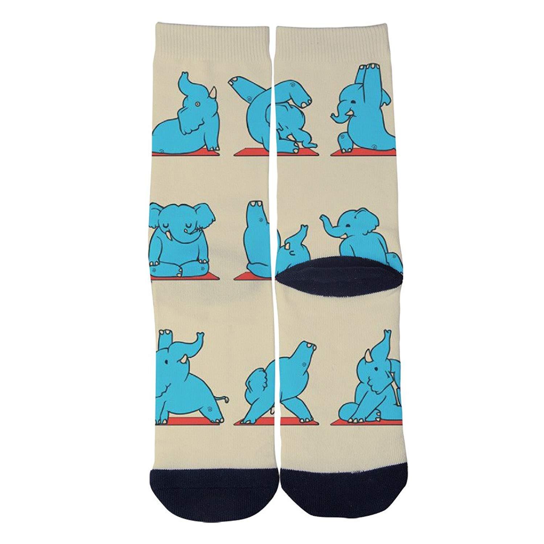TheFun-Z Custom Humorous Hot Dog Socks Novelty Funny Cartoon Crew Socks Elite Casual Socks