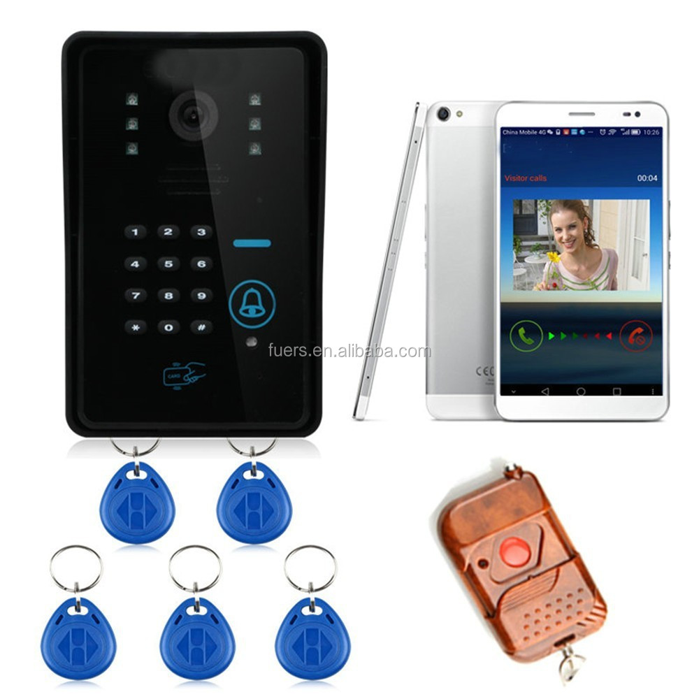 WIFI wireless 720P video door phone video intercom doorbell peer hole camera for Android IOS phone APP remote video view