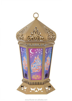 Antique Candle Holders Ramadan Lantern Iron Table Lamp For