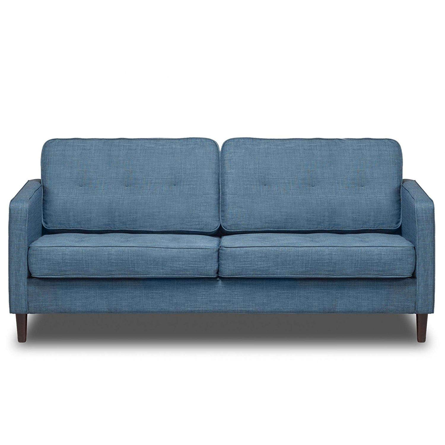 """Aqua 66"""" Upholstered Sofa, Pocket Coil Seat Cushions, Solid Wood Legs, Hardwood Solids, Metal Seat Frame, Removable Slip Cover, Bundle with Our Expert Guide with Tips for Home Arrangement"""