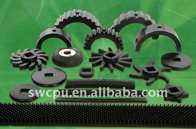 Agriculture rubber stars&discs&drive shoes &Encapsulated Pintle Strip
