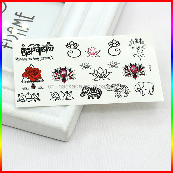 Non-toxic fashion custom temporary tattoo,tattoo sticker printing for children body tattoo