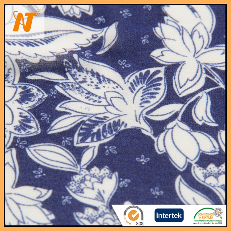Latest hot selling chiffon 95% polyester 5% spandex chinese fabric