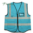 Customized Logo High Visibility Working Tool Blue Reflective Vests