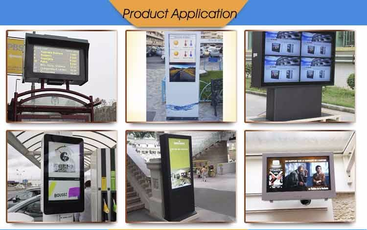 70 Inch Free Standing LCD Touch Screen Outdoor Kiosk Advertising Display