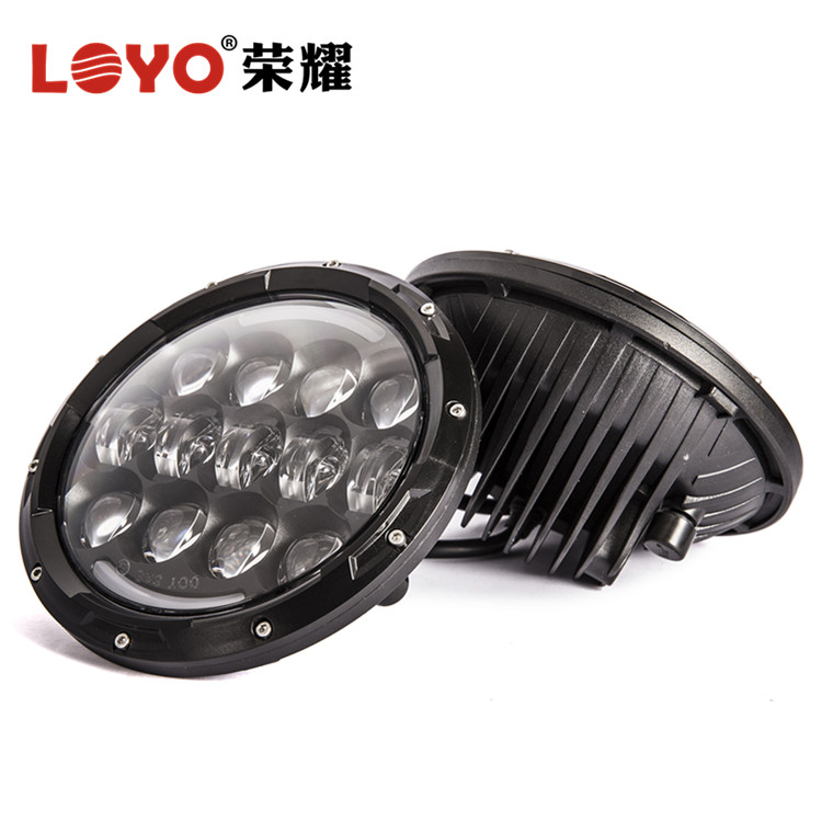 105w 7inch led round angel eyes head lights for jeep wrangler grand cherokee light cover