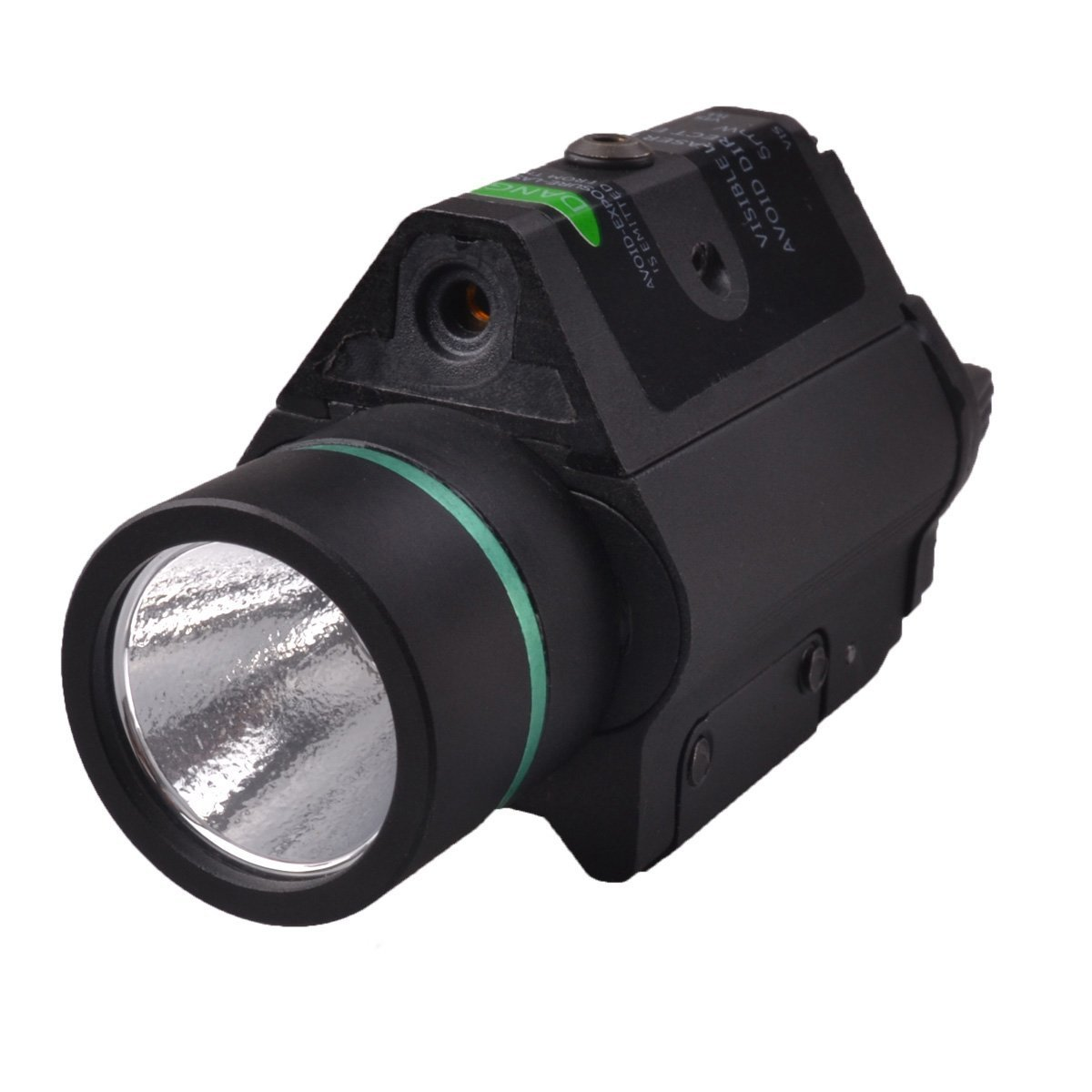 Freehawk® Rifle Laser/Gun Laser/Airsoft Laser/Gun Sights/Gun Lights, Tactical Compact Rail Mounted GREEN Laser Sight with 100 Lumen LED Flashlight