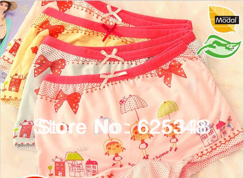 2014 New Cartoon printing girls boxer underwear girls briefs free shipping 12pcs pack children panties