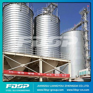 Large Capacity 100 ton cement silo with galvanized elevators