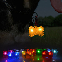 Hot Sale Led Light Pet Pendant Bone Shape Dog Tag Fashion Dog Tag Led Light With Dog Id