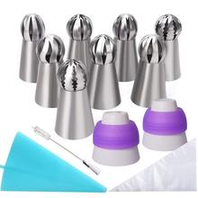 Cupcake Kue Dekorasi Icing Tips 22 Pcs Stainless Steel Rusia Piping Tips <span class=keywords><strong>Set</strong></span>