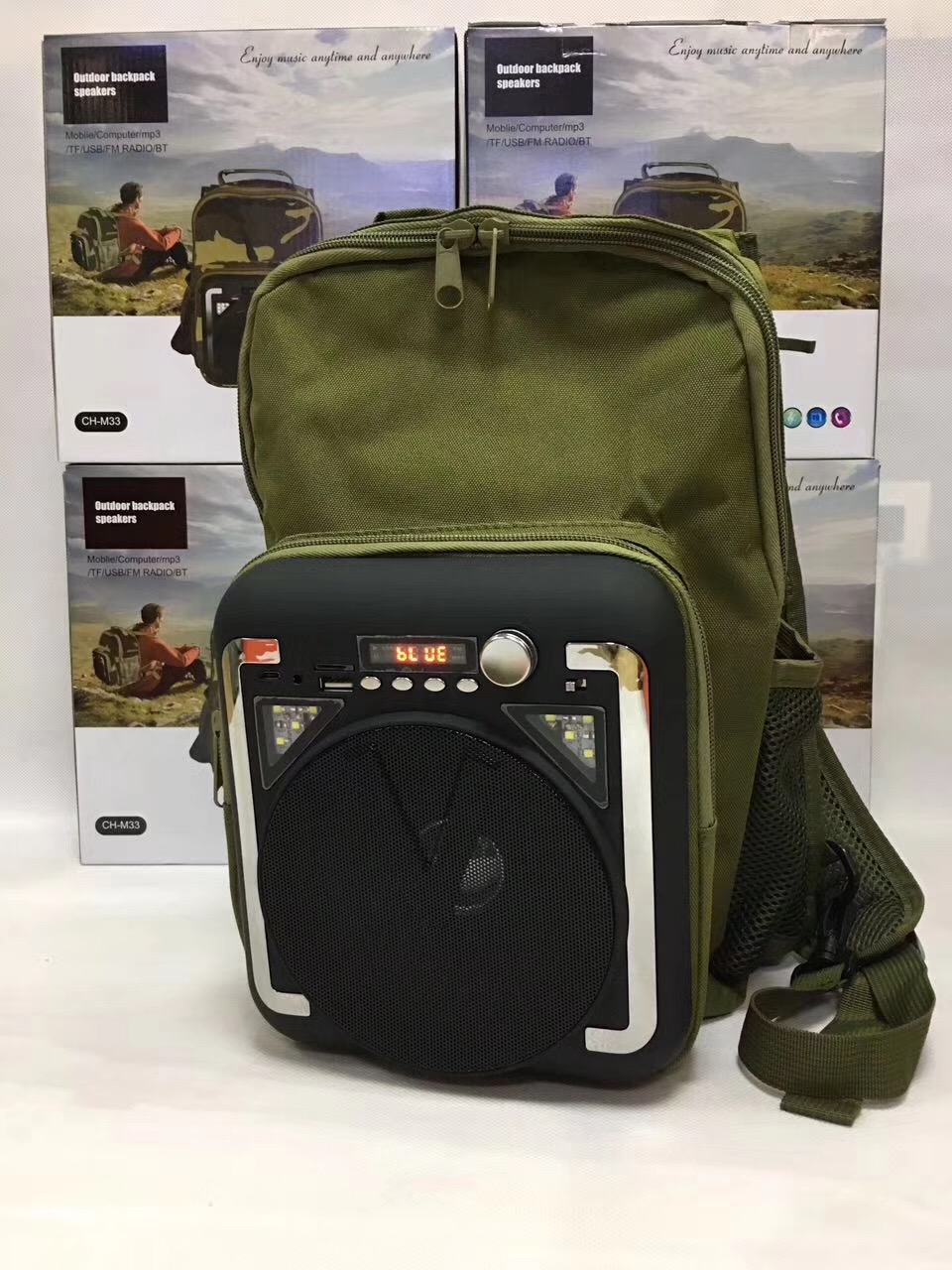 NEW TMC MILITARY CHROME CAMOUFLAGE USB STEREO SPEAKERS FOR COMPUTER MP3 ETC