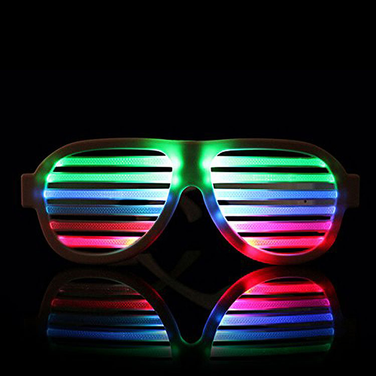 2017 music activated LED glasses for paty with USB charger