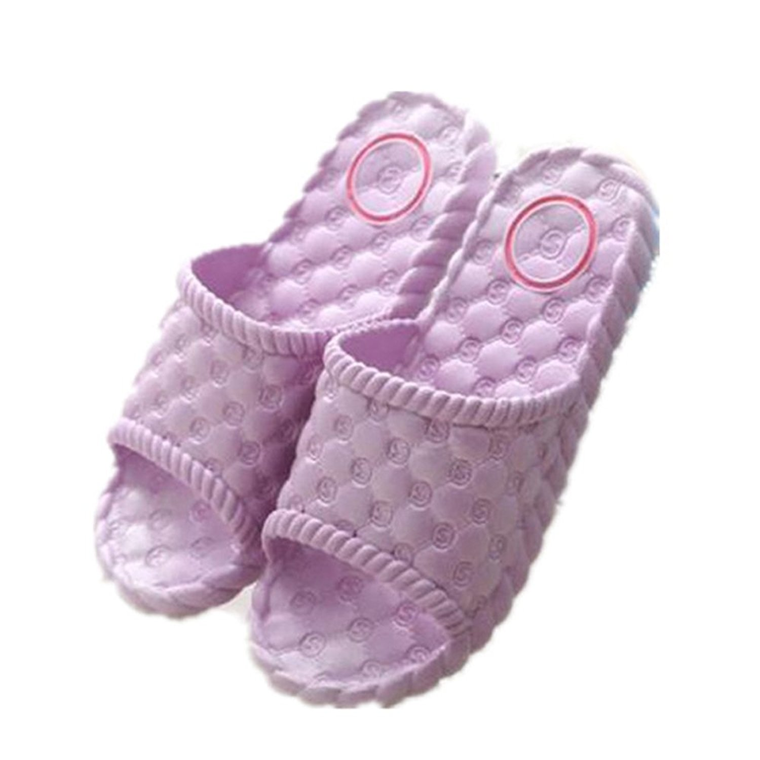YSDAI summer ladies slippers,men and women home shoes,non-slip bath shoes,couple home sandals,light pink