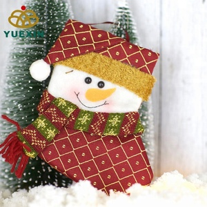 Soft Suitable Christmas Snowman Gift Stocking Decorative Bag