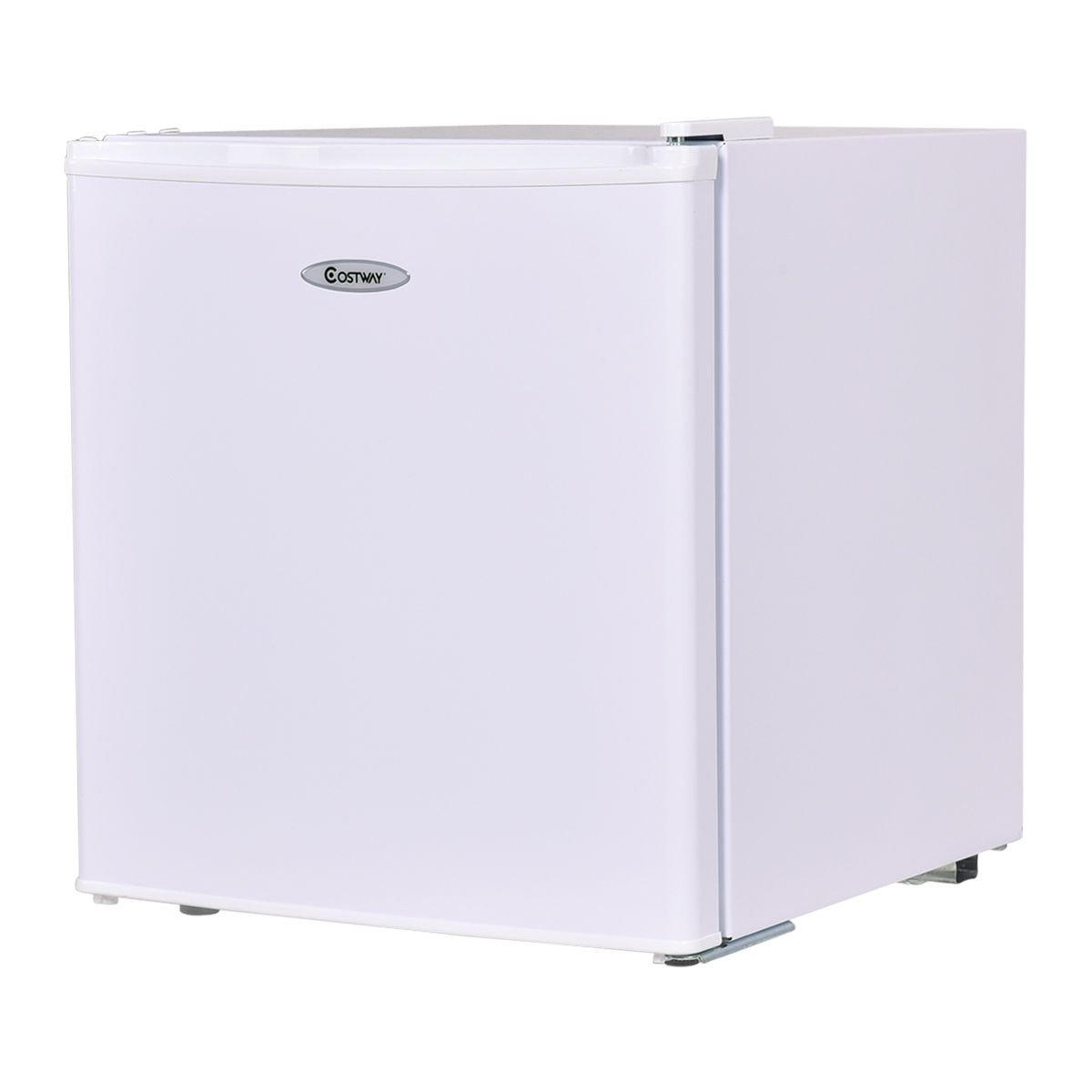 Costway Compact Refrigerator and Freezer With Single Door Cooler Fridge,1.7 Cubic Feet,Unit (White)