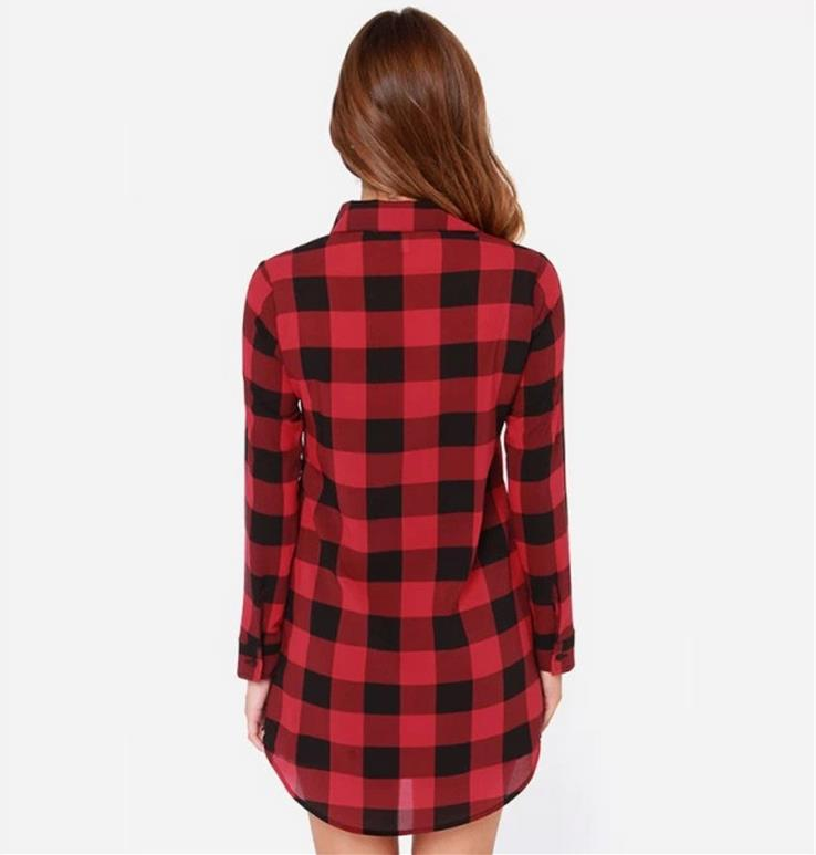 039e38ce514 wholesale newly factory manufacturer women shirt dress plaid shirts long  ladies tops blouse