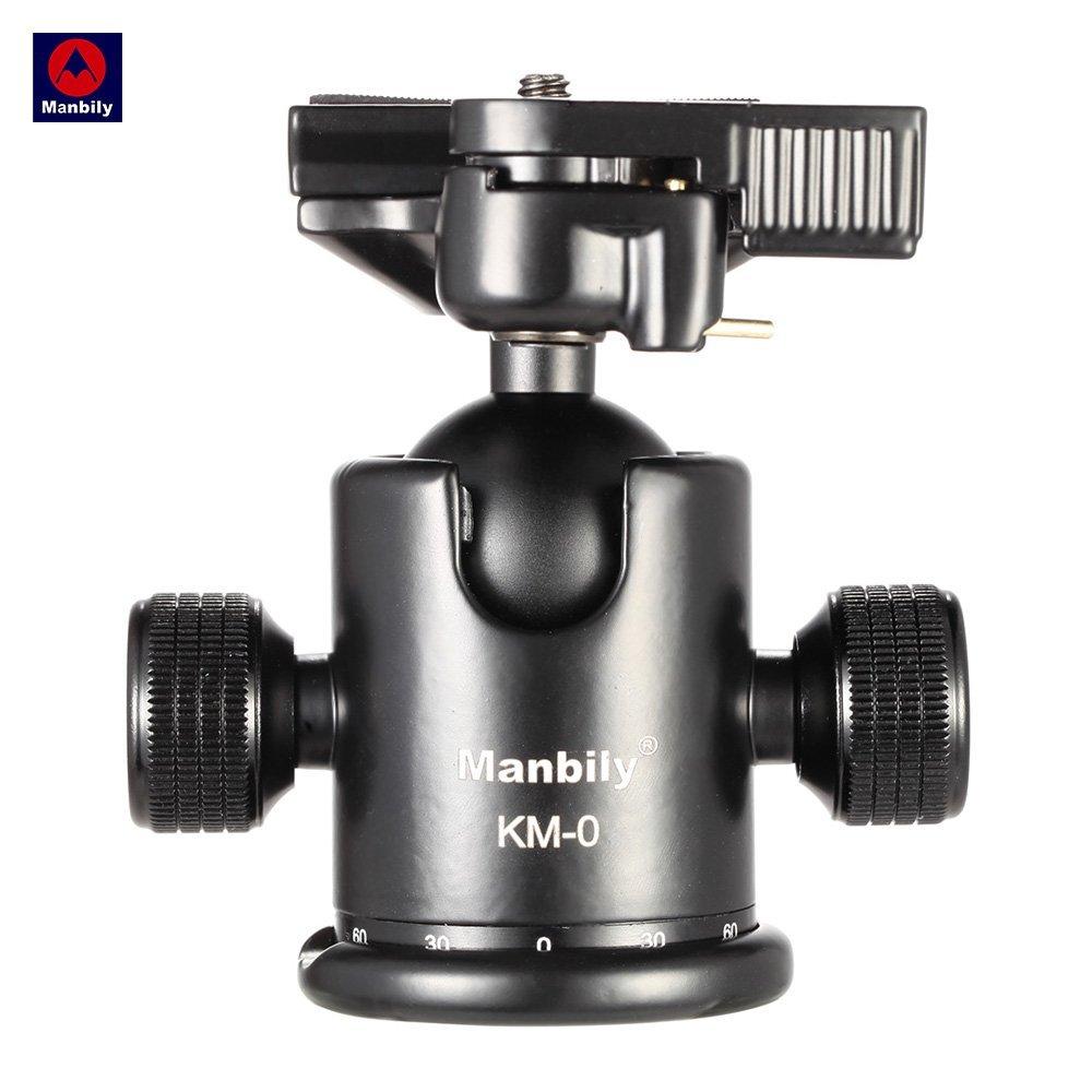 Manbily KM-0 Professional Camera Tripod Head Ball Photography Ballhead Panoramic Head Sliding Rail Head Aluminum Alloy Max Load Capacity 15kg