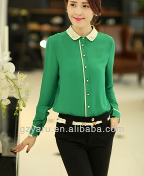 Women Formal Blouse T Shirt Design With Peter Pan Collar - Buy ... a56712eb7