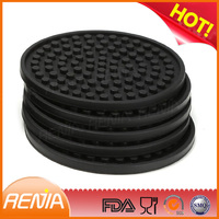 RENJIA shape coasters 8 pack round silicone coaste silicone dongguan the silicone tableware