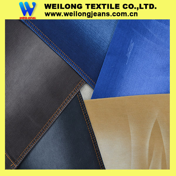 B2952D colorful satin cotton denim fabric for man jean