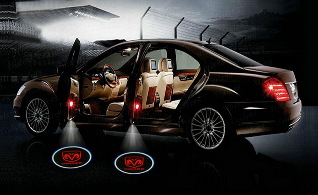 Buy 2 X Black 5th Gen Car Door Shadow Laser Projector Logo Led Light Dodge Ram 1500 Power Wagon For All