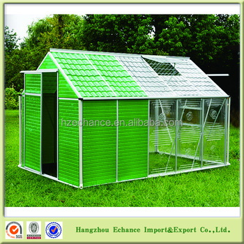 2016 new design storage shed greenhouse combination for outdoor garden gh2040