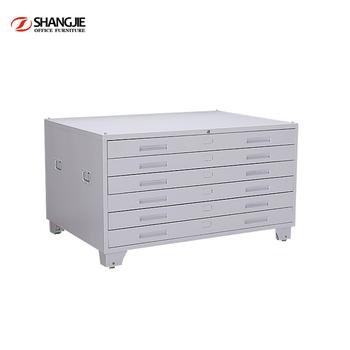 Large Capacity Metal Steel Practical Map File Cabinet