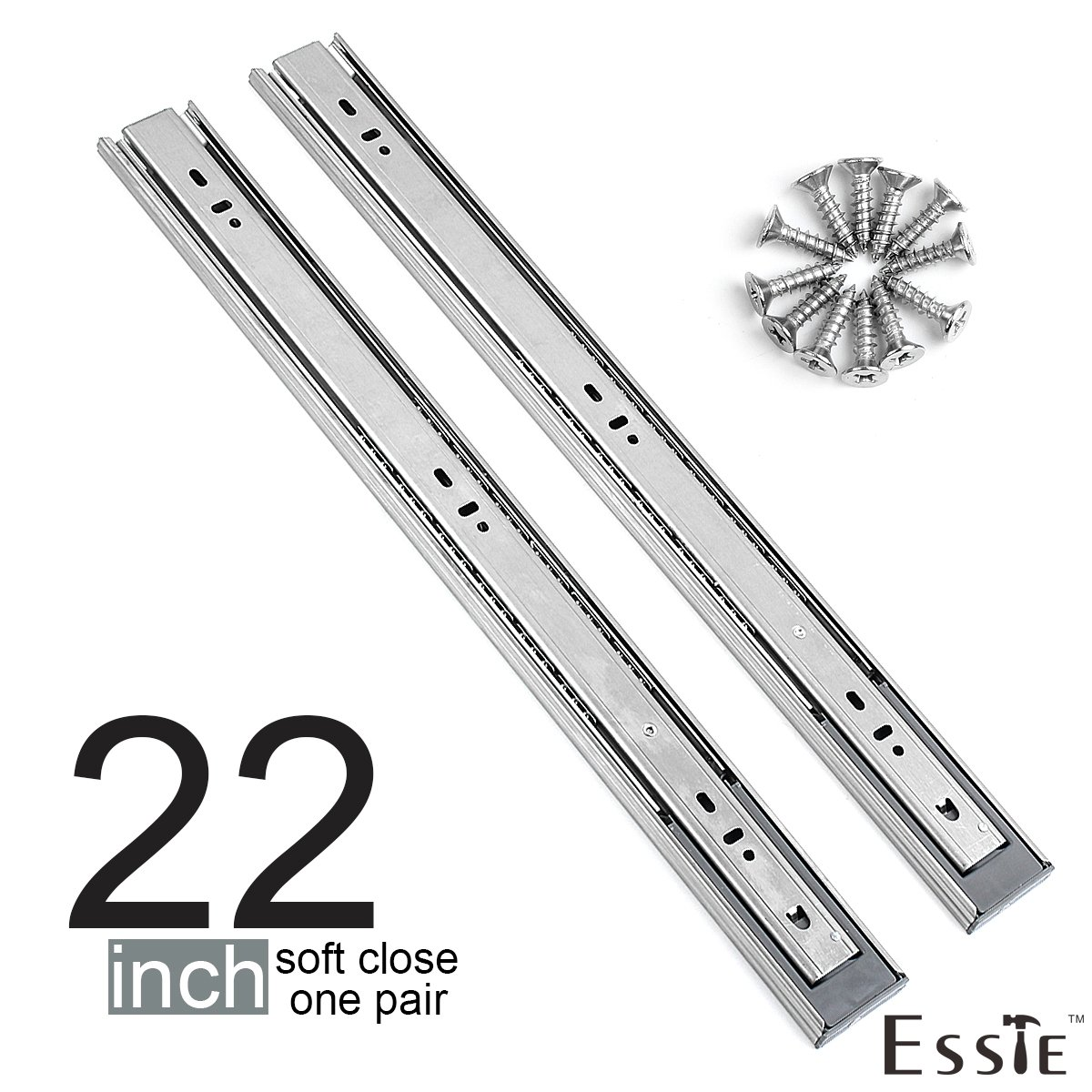 Superieur Get Quotations · Soft Close Drawer Slides 1 Pair  Esste Ball Bearing  3 Folds Full Extension Side